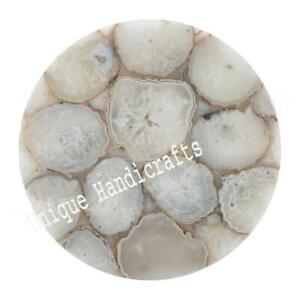 Agate Stones Coffee/Edge/Corner /Center Table Top Living Room Decor Handmade