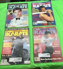 Lot Of (4) Vintage Inside Karate Magazine February-April and July 1994