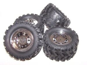"""Redcat Ground Pounder 4x4x4 Truck Wheels & Tires 12mm Hex 6"""" Tall"""