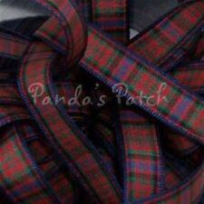 40mm Berisfords Polyester Tartan Ribbon 17 Tartans 5 Lengths MacDonald 40m X 2mtrs