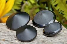 Shiny & Matte Black Glass Pointed Cone Vintage Buttons Art Deco German Excellent