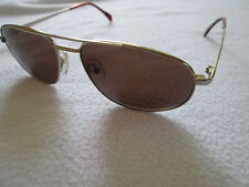 Menrad gold frame aviator sunglasses. Mod. 1505B. With case.