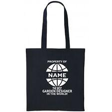 Garden Designer Personalised Tote Bag Gift Birthday Christmas Add Name
