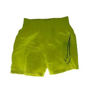 Nike Boy's Big Swoosh Volley Shorts Swim Trunks Neon Yellow Blue