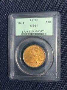 1894 $10 Gold Eagle PCGS MS 61
