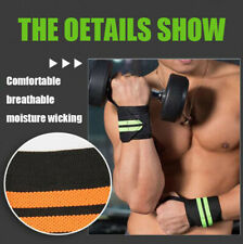 Weight Lifting Wrist Wraps Sports Wristband Thumb Support Straps Gym Winding
