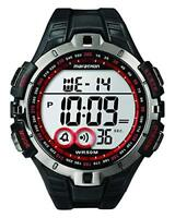 Timex Mens T5K423 Quartz Watch with LCD Dial Digital Display and Black Resin St