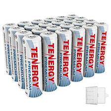 24PCS Tenergy 2500mAh Premium AA NiMH Rechargeable Batteries Cells AA + 6 Cases
