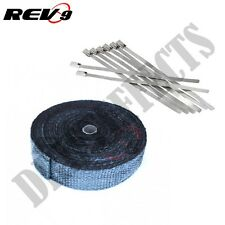 TURBO EXHAUST HEADER MANIFOLD HEAT WRAP 2 inch 2x50 ft RACING Universal BLACK