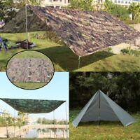 Outdoor Camping Waterproof Rain Tarp Cover Tent Canopy Shelter Sunshade Mat New