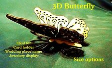 """2 x 100mm 4"""" Butterfly Card Holder/Retail display/Phone stand/Sweet stand  #01a"""