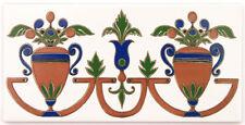 """Bordüre """"Cenefa Toledo"""", spanische Fliesen, 14x28 cm, Bordürenfliese aus Spanien"""