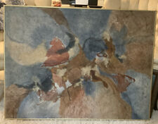 Original Mixed Media/tissue Paper With Oils Abstract Artwork Signed By Artist!!