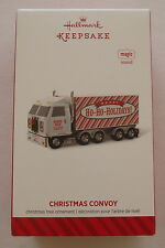 Hallmark 2014 Christmas Convoy Tractor Trailer Semi Truck Magic Sound Ornament