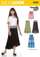New Look Sewing Pattern 6338 Girl's Easy Skirts and Knit Skirts
