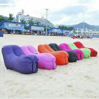 Wallaroo Lazy Air Lounge Chair Inflatable Sleeping Camping Bed Beach Sofa Bag AU