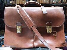 BOSCA Italy Vintage Leather Lawyer Doctor Attache Briefcase Bag Mens  MSRP$845