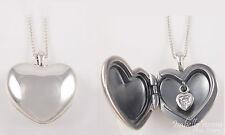 LOVE LOCKET Authentic PANDORA Valentine HEART Pendant/Chain SILVER/Zirconia NEW