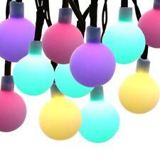 Solar Waterproof Globe Ball Fairy String 20Ft Rainbow Color 30 LED Lights Xmas