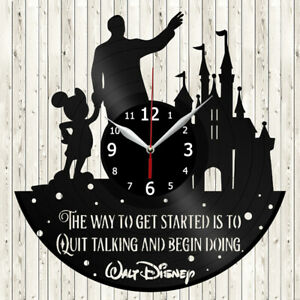 Walt Disney Vinyl Record Wall Clock Decor Handmade 2512