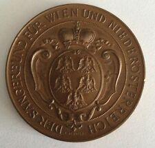 antike Medaille Sängerbund Österreich Wien Bronze