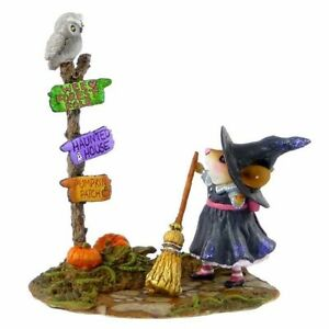 NEW AND RETIRED! WEE FOREST FOLK WHICH WAY WITCH M-482A