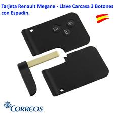 TARJETA RENAULT MEGANE - LLAVE CARCASA 3 BOTONES CON ESPADÍN.