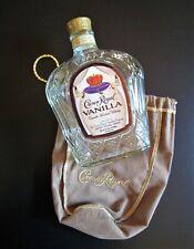 Crown Royal Vanilla Flavored Whisky 750ml Empty Bottle w/ Velvet Bag