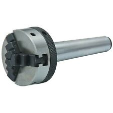 "2"" Steel Mini Lathe Chuck w/ MT1 Shank for Turning & Drilling w/ 2 Chuck Keys"