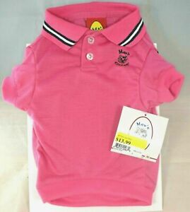 Max's Closet -  Dark Pink Polo Shirt (Pet, Dog) Small (S) For Dogs