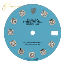 To Fit Rolex Datejust 31mm SS Light Blue Diamond Dial for 6827 68274
