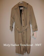 MISTY HARBOR WOMENS HOODED TRENCHCOAT WITH LINING - NEW !