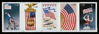 #3780a 37c Old Glory, Se-Tenant Strip, Mint **ANY 4=FREE SHIPPING**