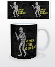 HALLOWEEN WHO´S YOUR MUMMY 11 OZ COFFEE MUG TEA CUP DECOR SCARY KIDS PARTY FUN!!