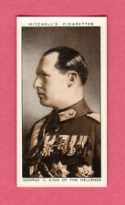 George II King of the Hellenes 1936 Mitchell's Cigarette Card