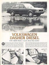 1979 VW Volkswagen Dasher Diesel Original Car Review Print Article J532