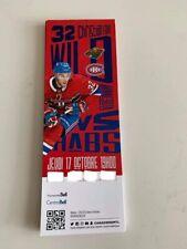 unused season hockey tickets Canadiens featuring Christian Folin oct 17