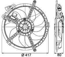 Engine Cooling Fan-Turbo Behr Hella Service fits 2007 Mini Cooper 1.6L-L4