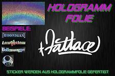 Fatlace Hologramme HOLO JDM Sticker autocollant domo Chrome Argent Rainbow