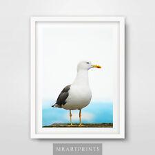 SEASIDE SEAGULL Art Print Poster Home Decor Room Animal Sea Ocean Photography