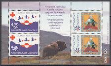 Grönland / Kalaallit Nunaat Block 4** (236-237**) Rotes Kreuz / Pfadfinder