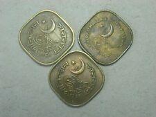 PAKISTAN  5  Paisa 1962 - 1966 / 3 coins /