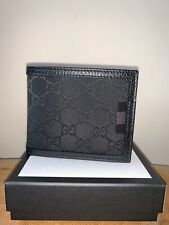 Gucci GG Guccisima Canvas Mens Wallet Leather Black RRP £255
