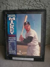"""MICKEY MANTLE 10"""" x 13"""" Black Wood Plaque New York Yankees Baseball Hall of Fame"""