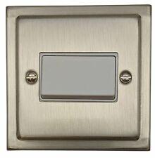 G&H TSN69W Trimline Plate Matt Chrome 1 Gang Triple Pole 10A Fan Isolator Switch