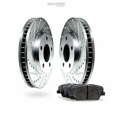 Front Drilled Slotted Brake Rotors and Ceramic Pads 2011-2014 BMW X3