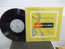 """Great Tenor Sax Artists"",RCA LPT 27,US,10"" LP,mono,Hawkins,Webster+more,M"