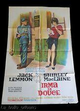 "ORIGINAL 1963 - IRMA LA DOUCE - JACK LEMON & SHIRLEY MACLAINE. ONE SHEET 43"""