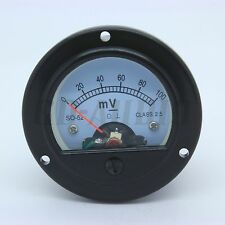 1PC 52mm DC100MV Round Moving Coil Volt Panel Meter FR Vintage Tube Amp CD RADIO