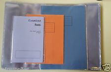 Multi pack 3 x assorted SCHOOL EXERCISE BOOK COVERS 1 x A4 1 x A5 1 x 9x7 covers